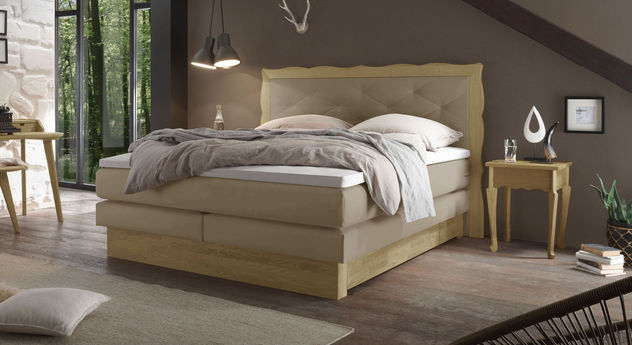 individuell anpassbares boxspringbett mit 2 schubladen gradina. Black Bedroom Furniture Sets. Home Design Ideas