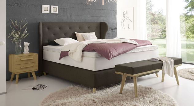 velours boxspringbett inklusive matratze und topper lamia. Black Bedroom Furniture Sets. Home Design Ideas