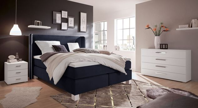 boxspringbett bis 150 kg im retrolook mit samtbezug lela. Black Bedroom Furniture Sets. Home Design Ideas