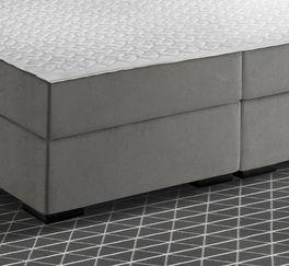 Boxspringbett Nerola mit schwarzen Kunststoff-Füßen