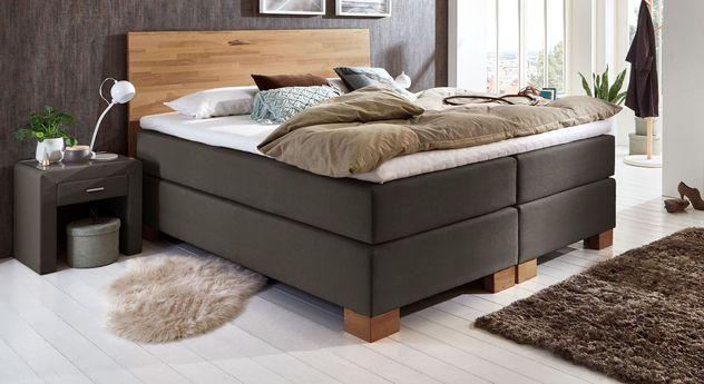 designer boxspringbett mit massivholz kopfteil peachland. Black Bedroom Furniture Sets. Home Design Ideas