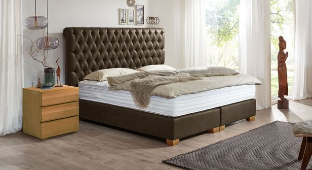 chesterfield polsterbett boxspringsystem bis 130 kg providence. Black Bedroom Furniture Sets. Home Design Ideas