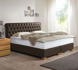 chesterfield polsterbett boxspringsystem bis 130 kg. Black Bedroom Furniture Sets. Home Design Ideas