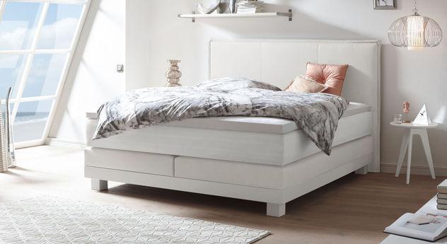 Modernes Bett Sola aus weißem Luxus-Kunstleder
