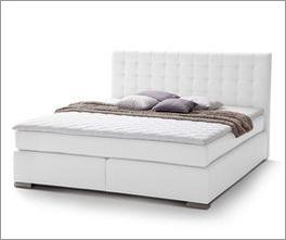 Zeitloses Bett Taimera mit hochwertigem Boxspring-System