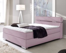 Farbiges Boxspringbett Tunero in extravagantem Design