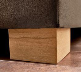 Boxspringbett Vincenzo mit Bettbeinen aus Kernbuchenholz