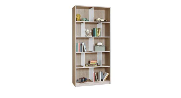 Bücherregal Tropea mit praktischen Fächer