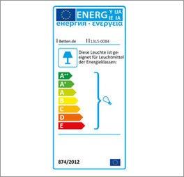 Energie-Verbrauchslabel der Deckenlampe LIFETIME Sternenglanz