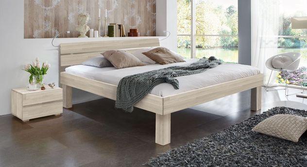 Weiß Doppelbett Madrid Komfort in 30 cm Höhe