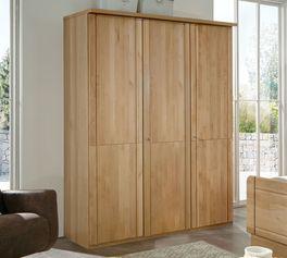 Drehtüren-Kleiderschrank Ageos Holzfront mit ansprechender Holzfront