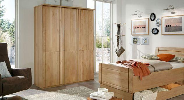 Drehtüren-Kleiderschrank Ageo Holzfront inklusive Kranzleiste