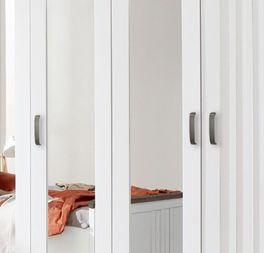 Drehtüren-Kleiderschrank Balero mit anthrazitfarbenen Metallgriffen