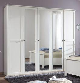 Moderner Drehtüren-Kleiderschrank Berata mit modernen Spiegeltüren