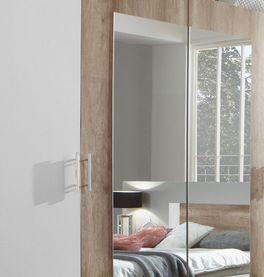Drehtüren-Kleiderschrank Boquila mit praktischem Spiegel