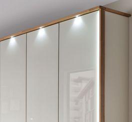 Drehtüren-Kleiderschrank Briston mit gespiegelter Dekorfront