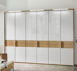 Drehtüren-Kleiderschrank Chipperfield aus weißem Glas