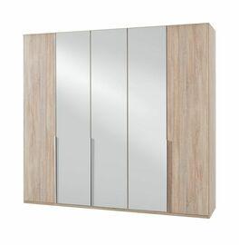 Drehtüren-Kleiderschrank Coreno mit vollflächiger Spiegelfront