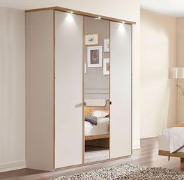 Drehtüren-Kleiderschrank Dolavon mit mittiger Spiegeltür