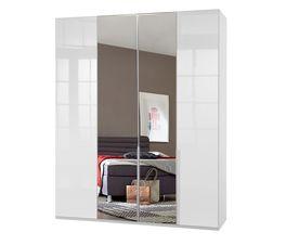 Schicker Drehtüren-Kleiderschrank Esperia mit Spiegel