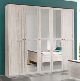 Drehtüren-Kleiderschrank Grom mit praktischen Spiegeln