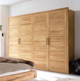Drehtüren-Kleiderschrank Listra mit massivem Holztüren
