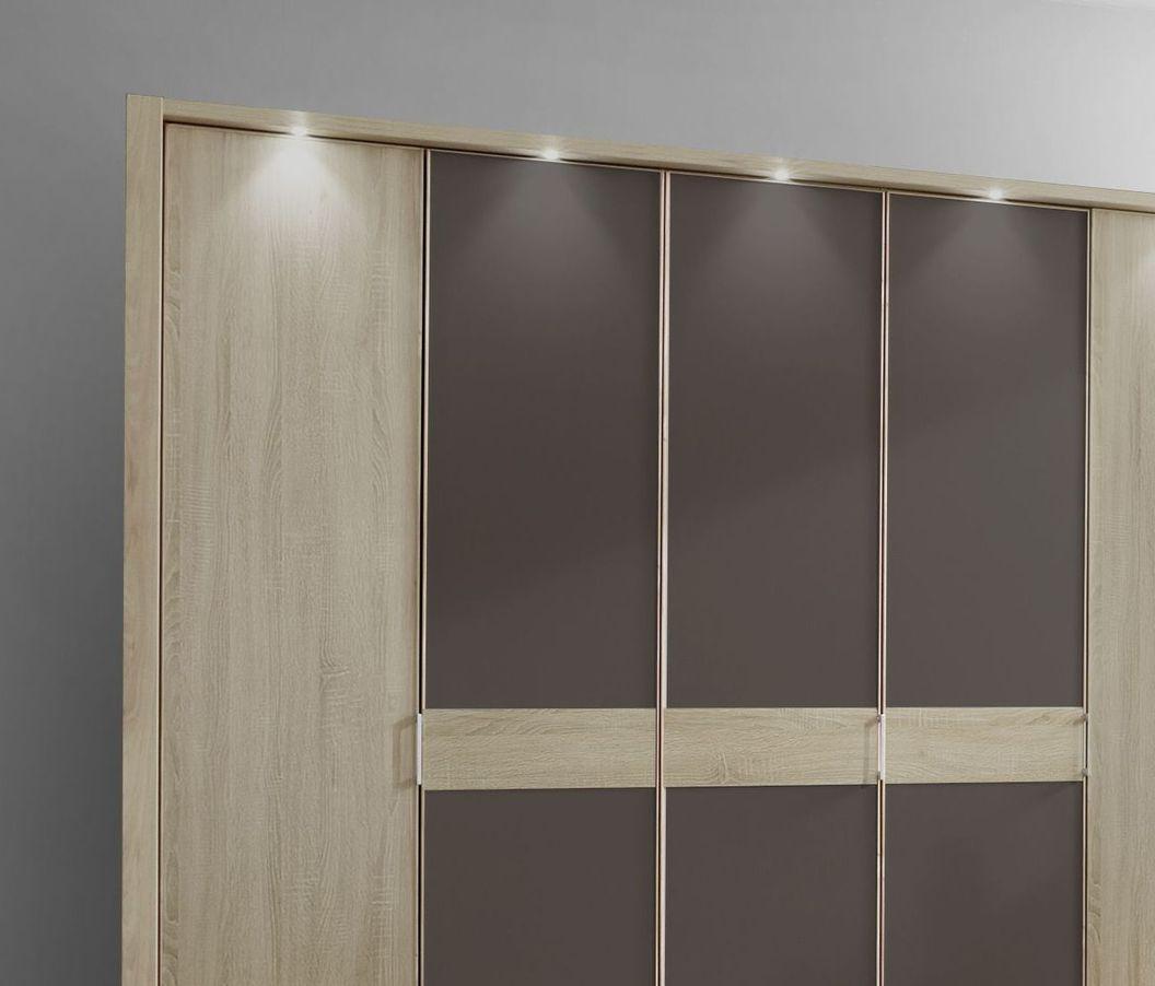 Drehtüren-Kleiderschrank Mallow mit optionaler Beleuchtung