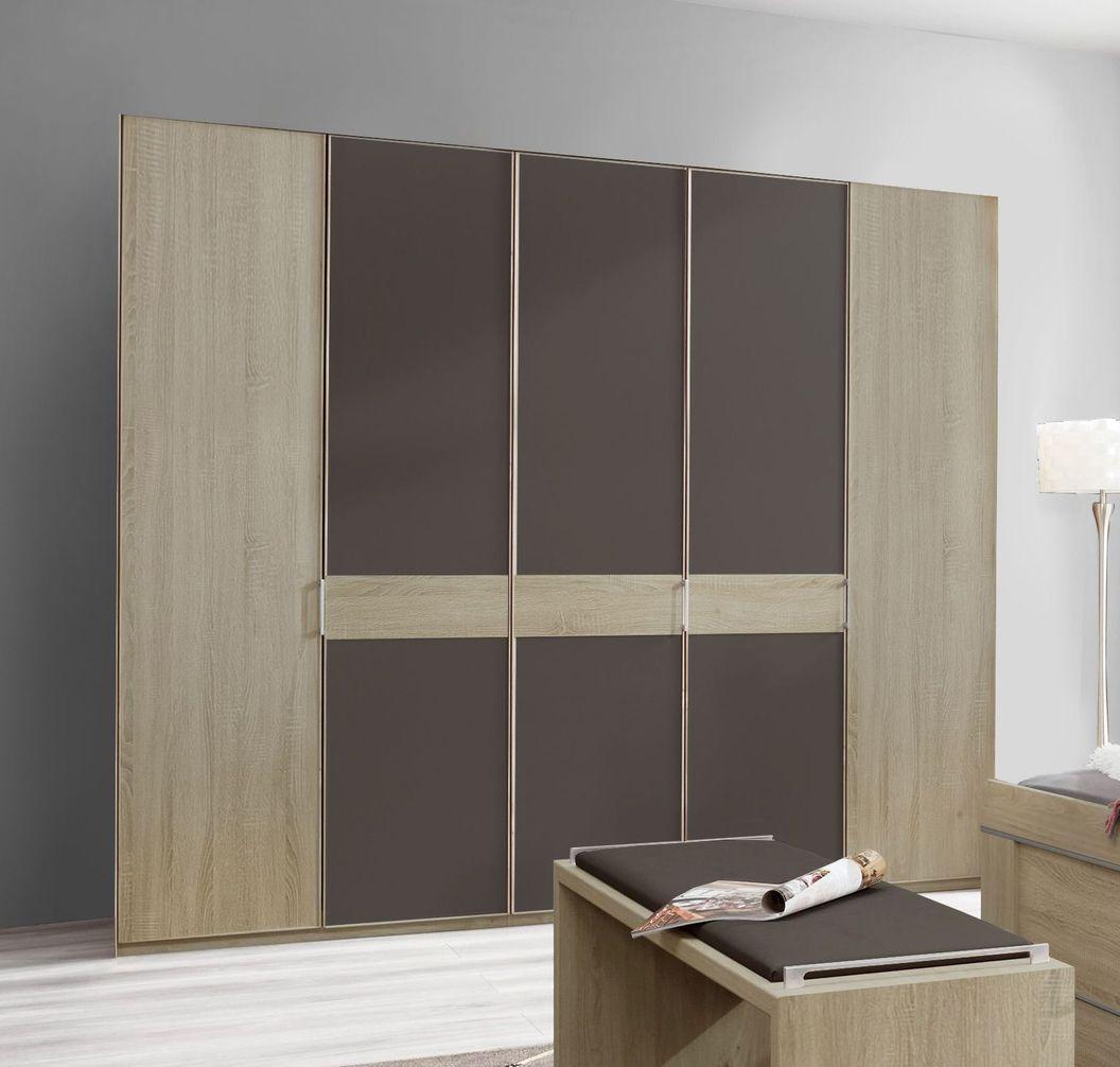 Rahmenloser und preiswerter Drehtüren-Kleiderschrank Mallow