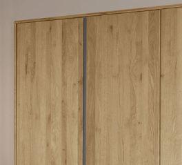 Drehtüren-Kleiderschrank Nidau mit lackierten Stahl-Leisten