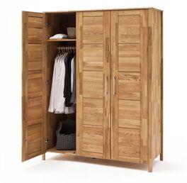 Drehtüren-Kleiderschrank Pasja inklusive Kleiderstange und Einlegeboden