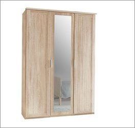 Drehtüren-Kleiderschrank Sinello bietet viel Stauraum