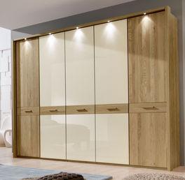 Geräumiger Drehtüren-Kleiderschrank Taras mit 5 Türen