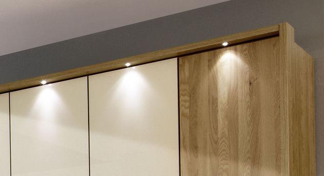 Drehtüren-Kleiderschrank Taras mit optionaler Beleuchtung