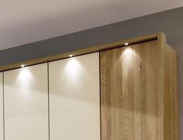 Drehtüren-Kleiderschrank Taras mit energiesparender LED-Beleuchtung