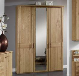 Hochwertiger Drehtüren-Kleiderschrank Toliara mit Spiegel