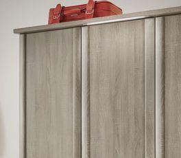 Drehtüren-Kleiderschrank Troia mit optionaler Kranzleiste