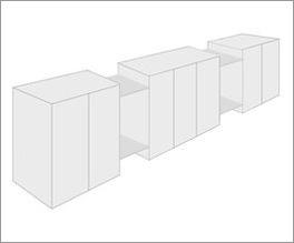 Individuell konfigurierbarer Drehtüren-Kleiderschrank Vacallo