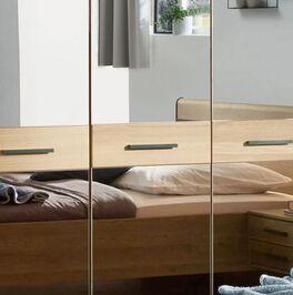Drehtüren-Kleiderschrank Vitoria mit Spiegeltüren und Querriegeln