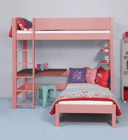 Eck-Etagenbett Kids Town Color mit unbedenklichem Lack lackiert