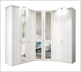 Eck-Kleiderschrank Alvito inklusive Spiegelfronten
