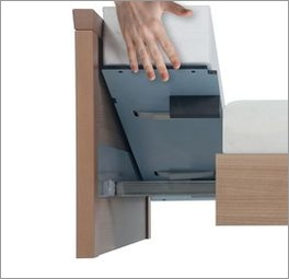 Matratzenblock mit PU-Bezug als Einleger zur Bettverlängerung