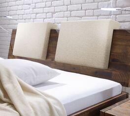 Einsteck-Kissen Rimini Fischgrät-Velours für Holz-Kopfteile