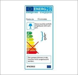 Energie-Label zum Drehtüren-Kleiderschrank Calimera