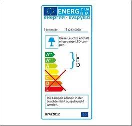Energie-Label zum Eck-Kleiderschrank Tiko