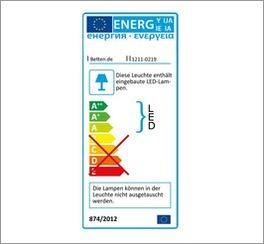 Energie-Label für den Nachttisch Tiko