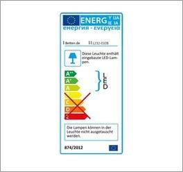 Energieverbrauchskennzeichnung zum Kleiderschrank Gallinaro