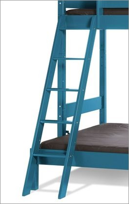 Etagen-Kombibett Kids Town Color mit Leiter zum Einhängen