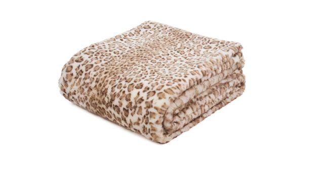 Flauschige Felldecke Gepard in 150x200 cm
