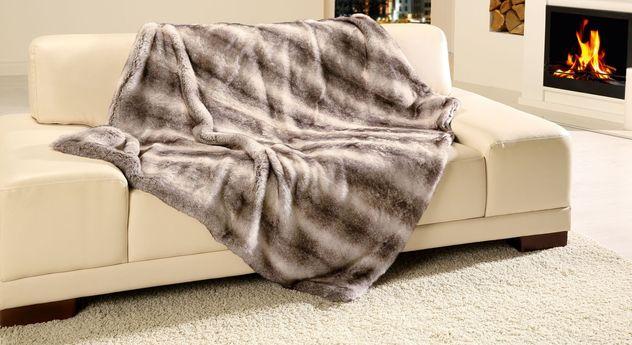 Weiche Felldecke Schlittenhund in 150x200 cm