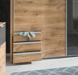 Funktions-Kleiderschrank Alwara mit nützlichen Schubladen
